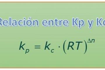 relacion kp y kc equilibrio
