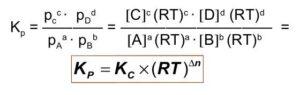 Relacion entre Kp y Kc - Formula