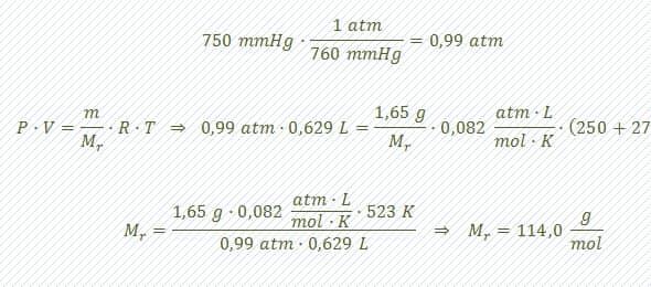 calcular formula molecular paso 1