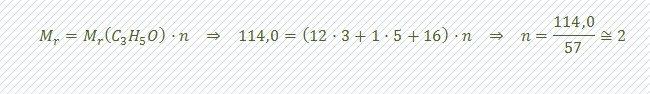 calcular formula molecular paso 2