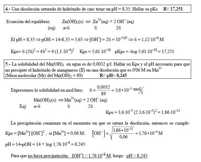 efecto del ion comun ph solublidad